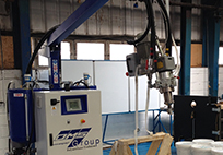 Our new foam filling machine